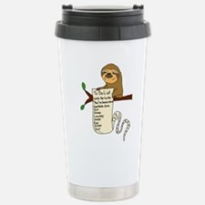 Sloth with Long To Do L Stainless Steel Travel Mug