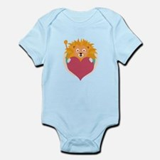 Love lion with heart Body Suit
