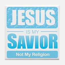 Jesus is My Savior Tile Coaster