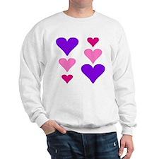 6 Colorful Hearts Sweatshirt