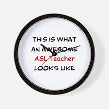 awesome asl teacher Wall Clock