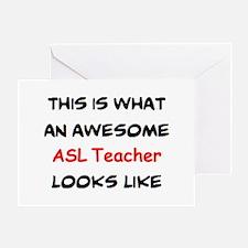 awesome asl teacher Greeting Card