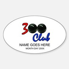 Personalized 300 Perfect Game Bowli Sticker (Oval)