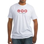 PEACE. LOVE. VOLLEYBALL Fitted T-Shirt