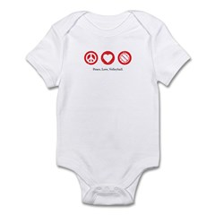 PEACE. LOVE. VOLLEYBALL Infant Bodysuit