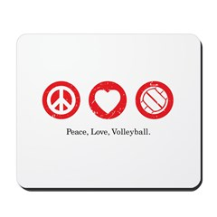 PEACE. LOVE. VOLLEYBALL Mousepad