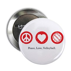 "PEACE. LOVE. VOLLEYBALL 2.25"" Button (10 pack)"
