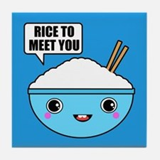 Rice to Meet You BBG Tile Coaster