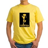 Authors kafka Mens Yellow T-shirts