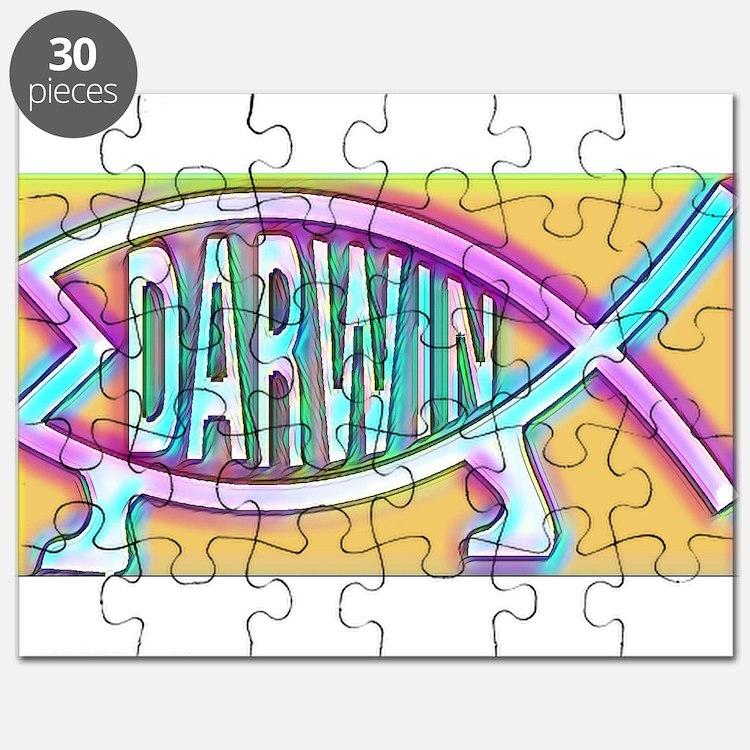Original Darwin Fish (Neon) Puzzle