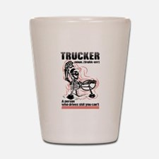 Cute Truck driver Shot Glass