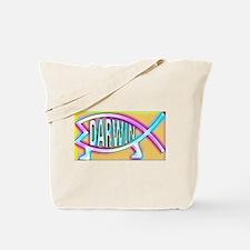 Original Darwin Fish (Neon) Tote Bag