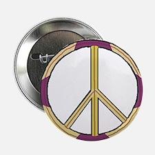 Purple Ivory Peace Symbol Button