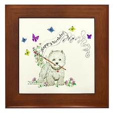Birthday Dog Westie Terrier Framed Tile