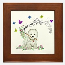 Birthday Dog Westie Terrier Framed Tile