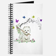 Birthday Dog Westie Terrier Journal