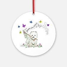 Birthday Dog Westie Terrier Ornament (Round)