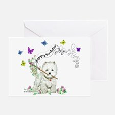 Birthday Dog Westie Terrier Greeting Card