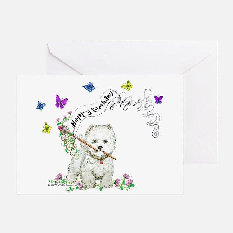 Birthday Dog Westie Terrier Greeting Card