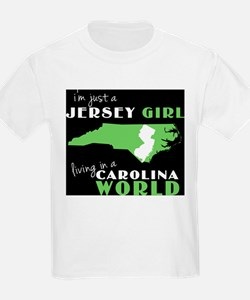 Jersey Girl in a NC World T-Shirt