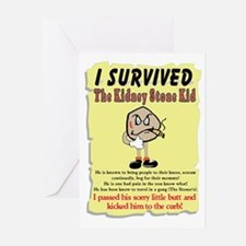 Kidney Stone Greeting Cards