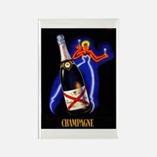 Vintage Champagne Wine Poster Rectangle Magnet