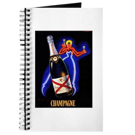 Vintage Champagne Wine Poster Journal