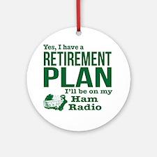 Cute Ham radio Round Ornament