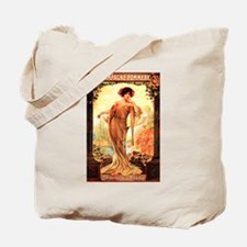Vintage Champagne Wine Poster Tote Bag