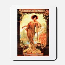 Vintage Champagne Wine Poster Mousepad