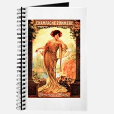 Vintage Champagne Wine Poster Journal