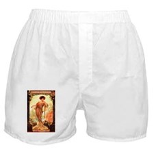 Vintage Champagne Wine Poster Boxer Shorts