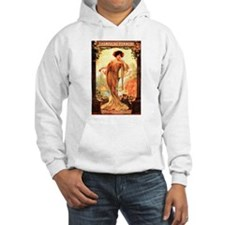 Vintage Champagne Wine Poster (Front) Hoodie