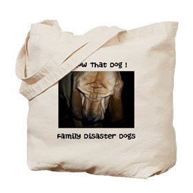 Follow That Dog ! Family Disaster Dogs Tote Bag