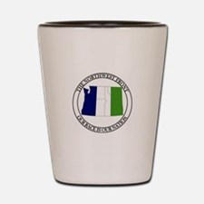 NF with Tricolr Banner Shot Glass
