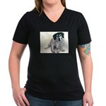 Bessie Women's V-Neck Dark T-Shirt