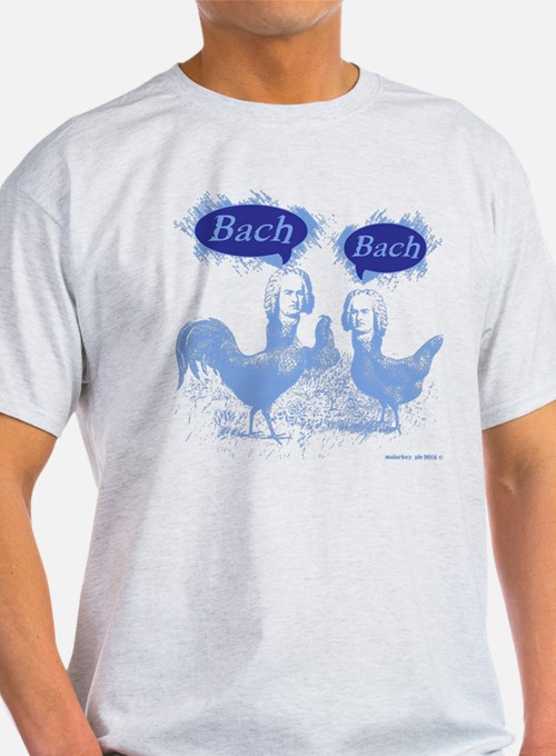 Chicken Bach Bach Blue T-Shirt