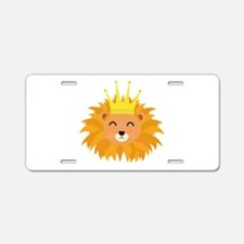 Lion head with crown Aluminum License Plate