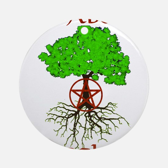 As Above So Below Tree of Life Round Ornament