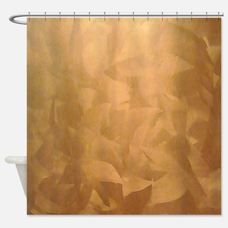 Cute Faux Shower Curtain