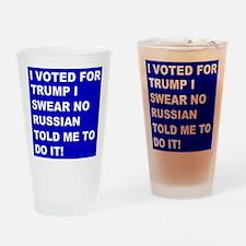 Trump I Swear Drinking Glass