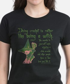 Crafty Crochet Witch T-Shirt