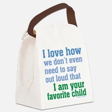 Favorite Child Canvas Lunch Bag