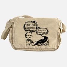 Funny Edgar Allan Poe Boy Raven Messenger Bag