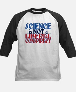 Science Liberal Conspiracy Red Blu Baseball Jersey