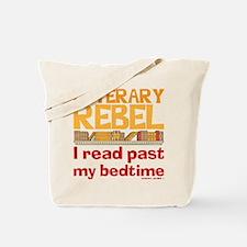 Funny Literary Rebel Reading Tote Bag