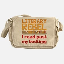 Funny Literary Rebel Reading Messenger Bag