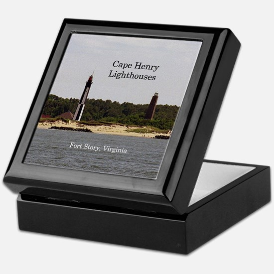 Cape Henry Ligthouses Keepsake Box