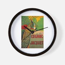 Vintage Cognac Wine Poster Wall Clock