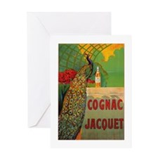 Vintage Cognac Wine Poster Greeting Card
